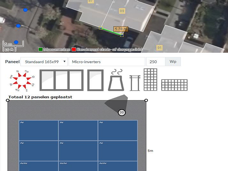 Smart survey tool for solar panels